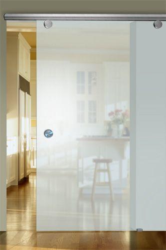 Between kitchen/living room and bedrooms? Love these sliding glass doors