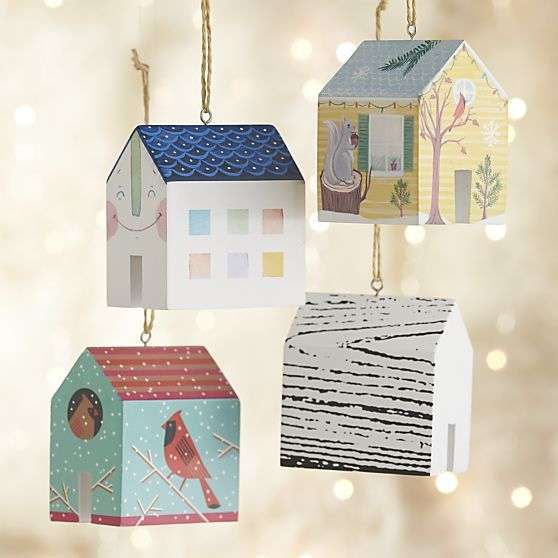house ornaments: 100% of the proceeds from this house will be donated to Rebuilding Together, a national nonprofit that rehabilitates homes for low-income homeowners at no cost, particularly the elderly and those with disabilities.
