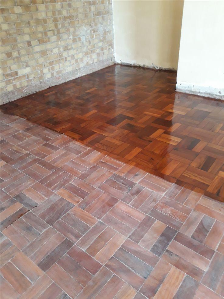 Restoration of wood floors-  Work in progress