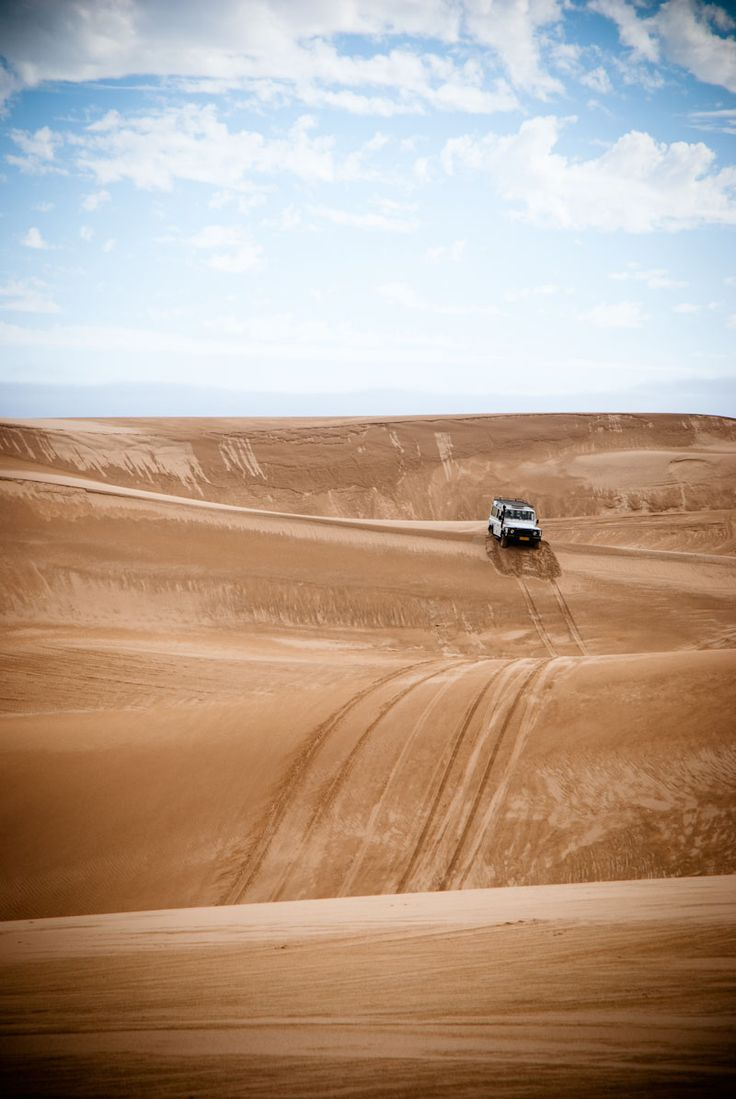 Dune driving, outside Walvis Bay, Namibia