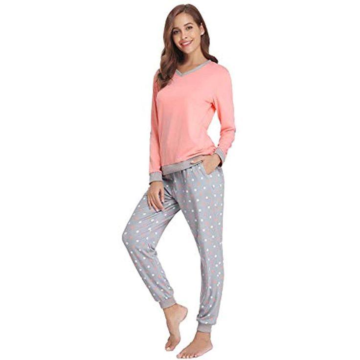 e9ec59a53aa781 Abollria Damen Pyjama Set Baumwolle Nachtwäsche Zweiteiliger Langarm  Schlafanzu… – Shopping Angebote