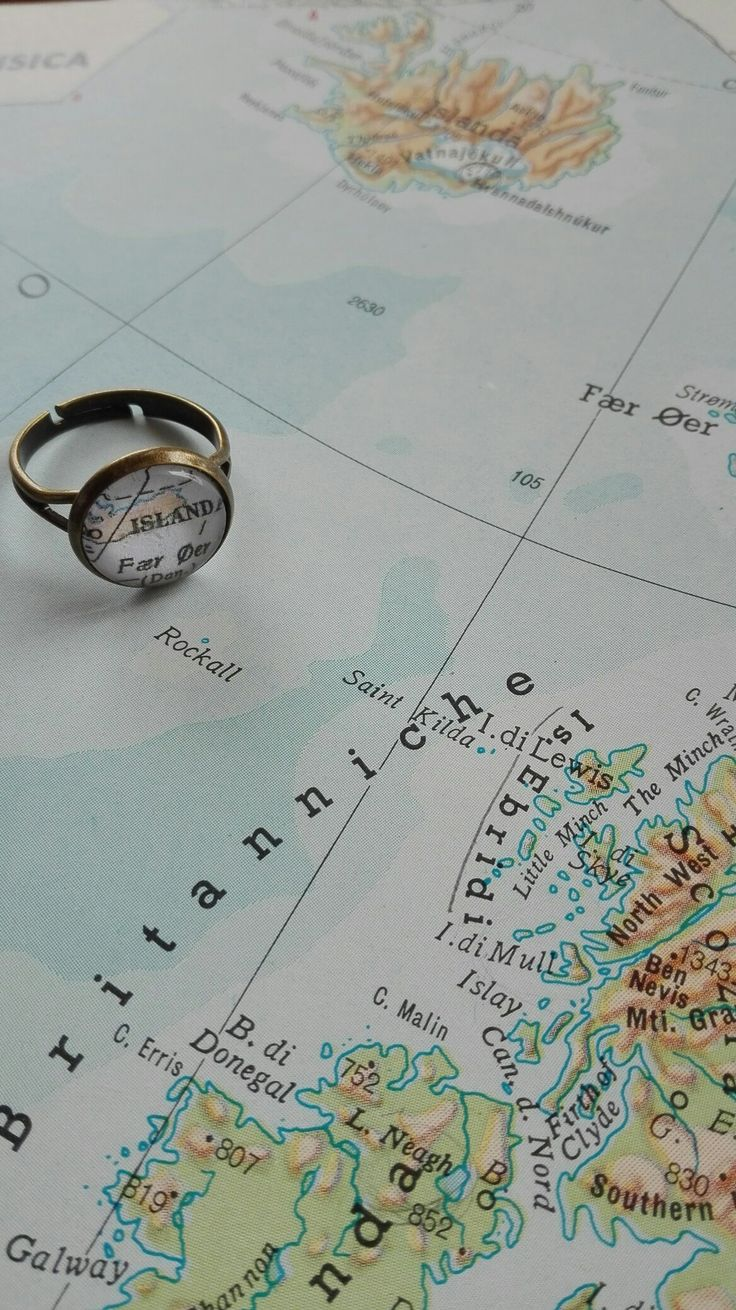 iceland map ring
