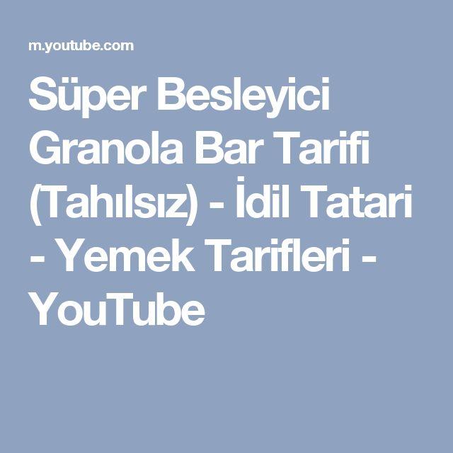 Süper Besleyici Granola Bar Tarifi (Tahılsız) - İdil Tatari - Yemek Tarifleri - YouTube