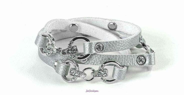 """""""It's A Wrap"""" Bracelet in Silver   by Just Jewelry Niagara $18"""