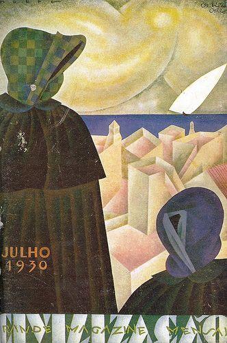 Roberto Nobre (1903-1969), Os Biôcos, Olhão, ilustração para a capa do magazine Civilização, número 25, Julho de 1930.