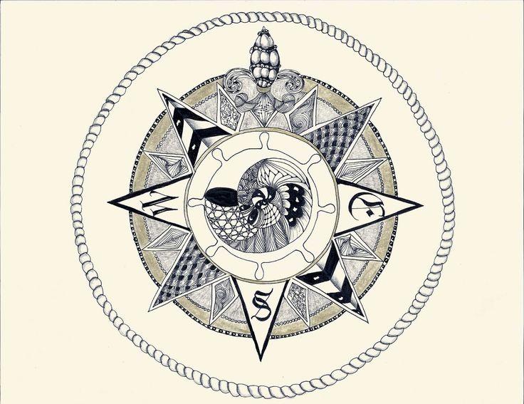 Compass compass zentangle compass tattoo