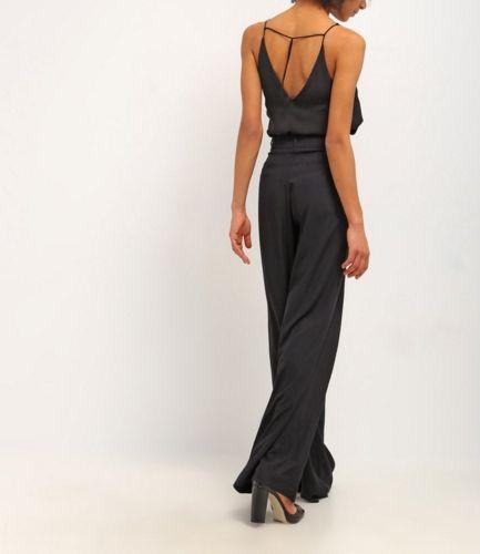 Guess EMELIE Spodnie materiałowe palazzo noir/jet black