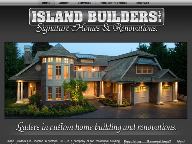 Island Builders Ltd., signature homes & renovations, servicing Victoria, BC, http://homerenovationvictoria.ca. Professional, affordable web design services by http://originalfire.ca