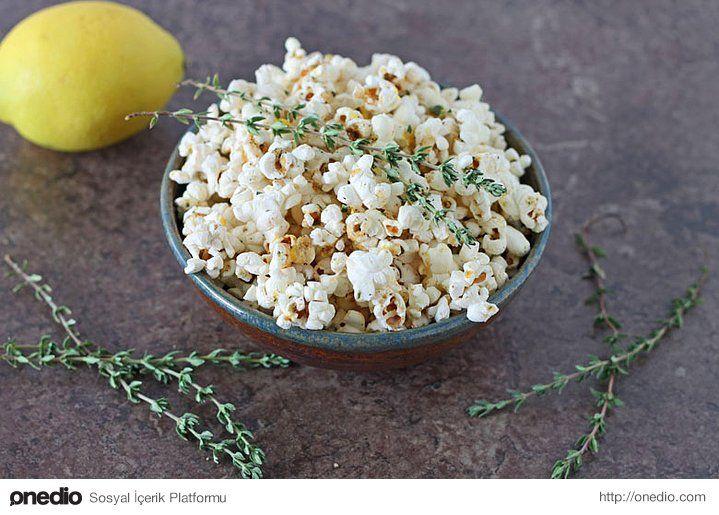 Biraz limon ve kekik ile popcornda ferahlık devri!