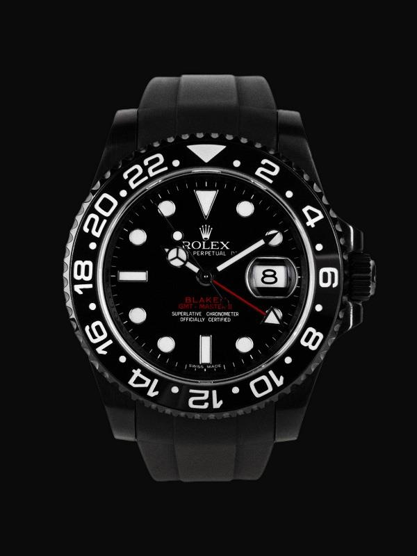 A #stunning Blaken #Rolex GMT Master II.....    Blaken create #stunning fully customised Rolex watches - we have a full range in-store.    For something really #unique - Blaken, created in Germany.