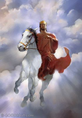 He is clothed with a robe dipped in blood, and His name is called The Word of God. (Revelation 19:13)