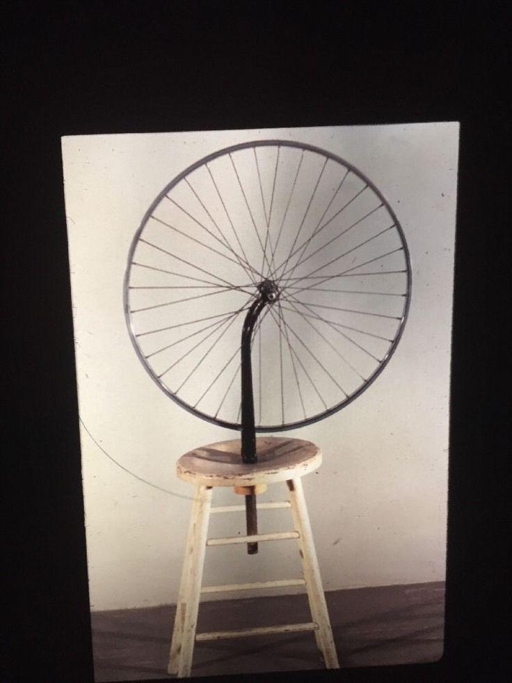"Marcel Duchamp ""Bicycle Wheel"" Dada 35mm  Art Slide  | eBay"