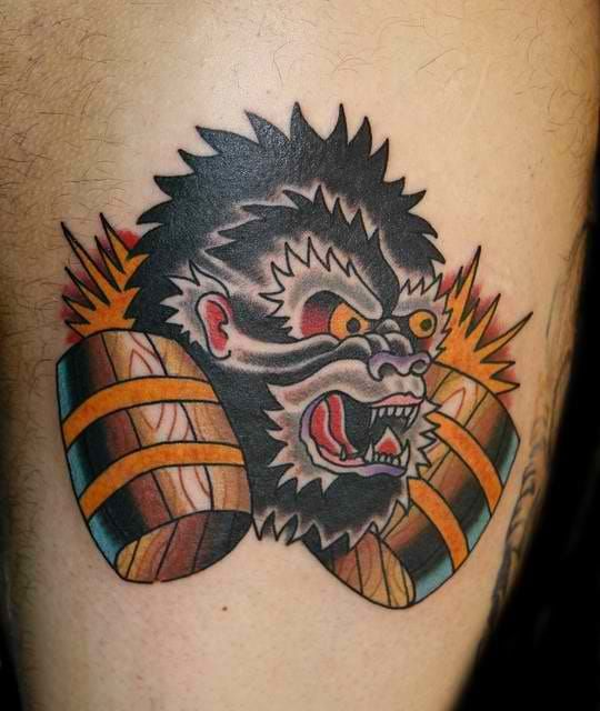 42 Best Donkey Kong Tattoo Designs Images On Pinterest
