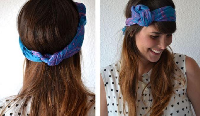 Bandana ile saç stili yapmanın 10 basit yolu