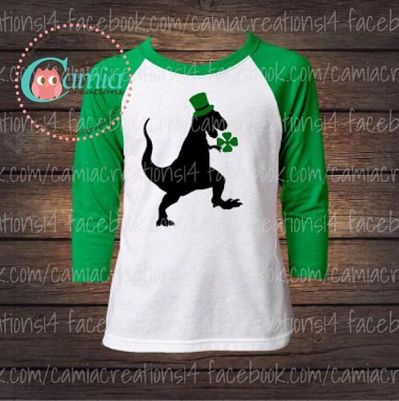 9ee9b4b90 St Patricks T-Rex - Cute St. Patrick's Day Shirt - St. Patty's Shirt for  Kids - Girl Boy Saint Patrick's Day Tee Shirts #ad