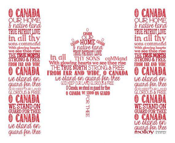 O Canada Artwork by DesignMolloy on Etsy, $10.00