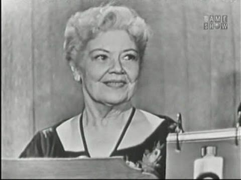 What's My Line? - Spring Byington; Ernie Kovacs [panel] (Oct 27, 1957) - YouTube