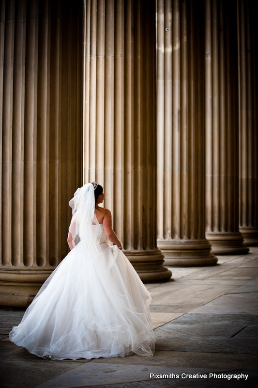 Beautiful bride in Liverpool at the fabulous St George's Hall.