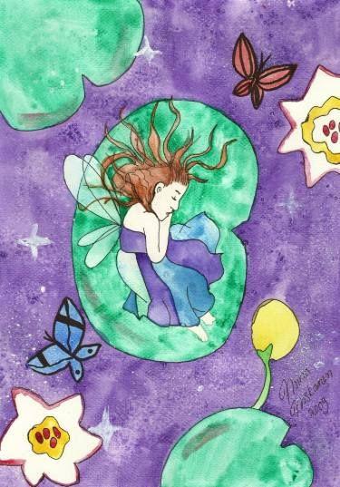 """Saatchi Art Artist Niina Niskanen; Painting, """"Child of lilies"""" #art"""