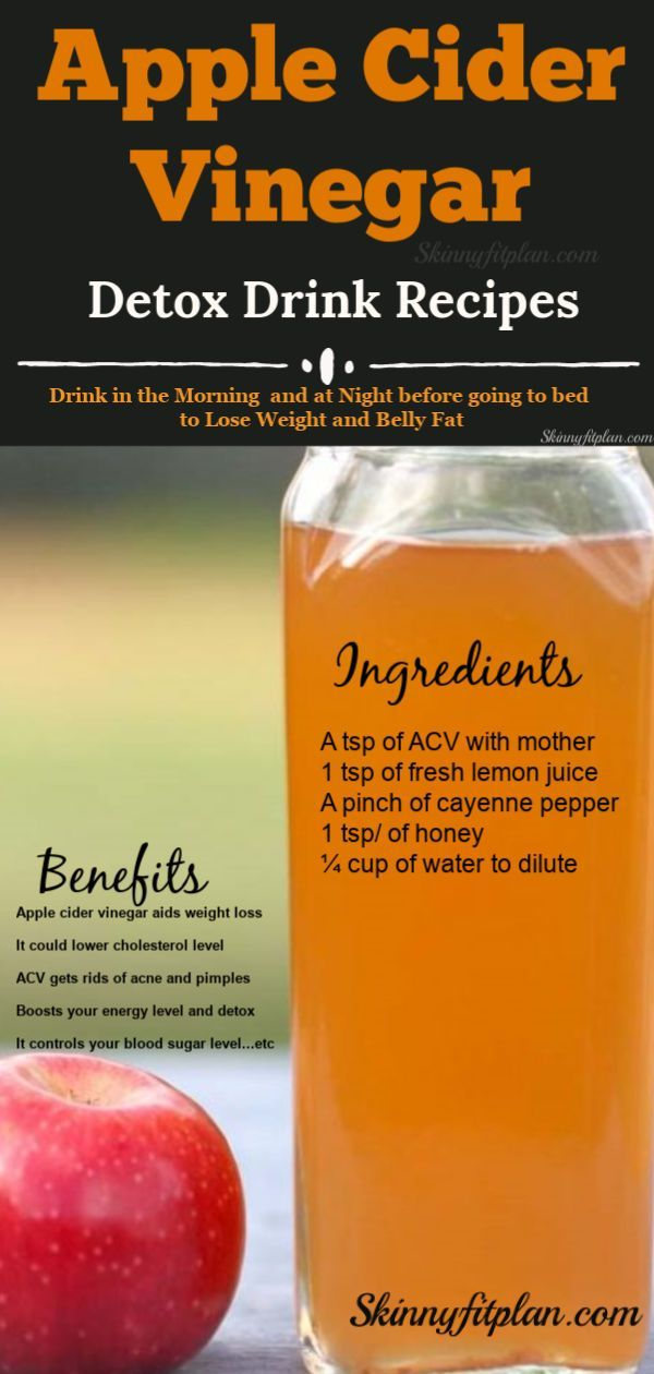7 Apple Cider Vinegar Detox Drink Recipes for Weight Loss. Ingredients - Lemon, ...
