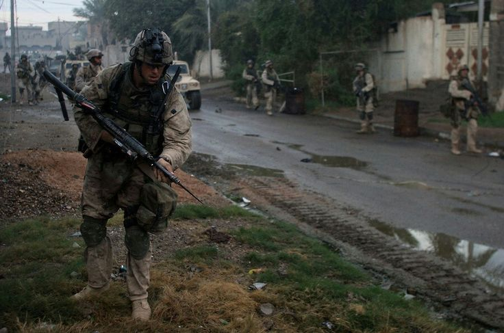 Iraq War 2004. USA Forces in Fallujah