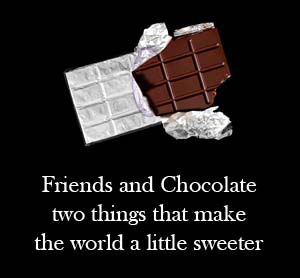 chocolate and friendship quotes
