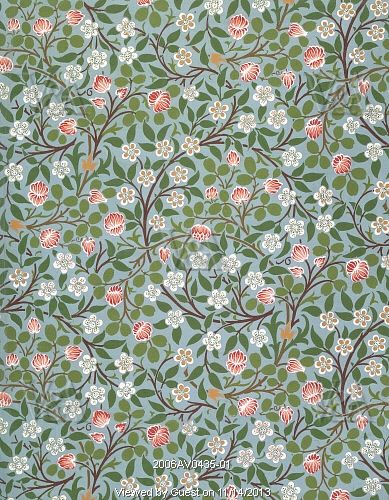Clover wallpaper, by William Morris. England, late 19th century