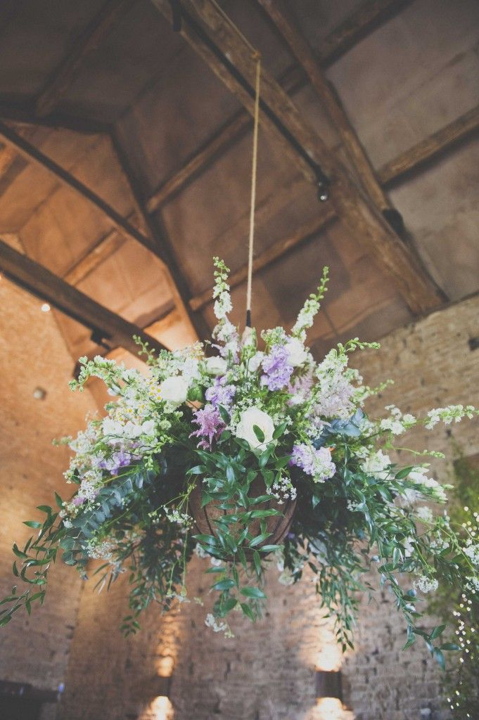 Large hanging arrangement at Cripps Barn