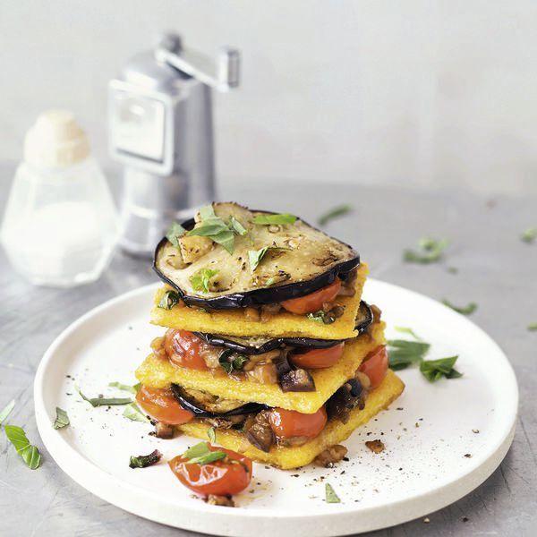 Polenta-Lasagne mit Auberginen