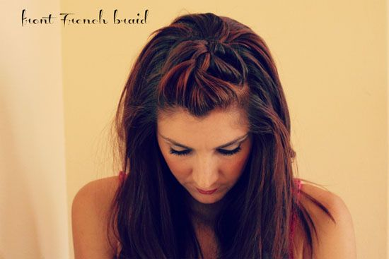 Front French Braid - 20 Pretty Styles for Short to Medium-Length Hair