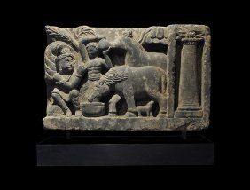 Gandharan Frieze With Horses