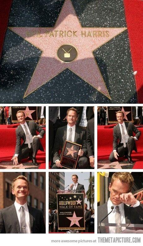 Neil Patrick Harris awe he got teary :)
