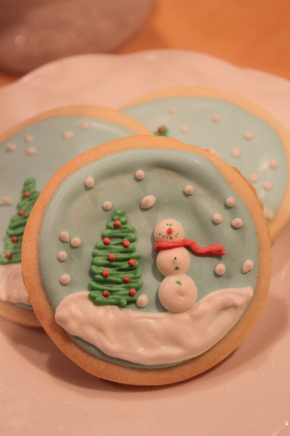 Snow globe sugar cookies!