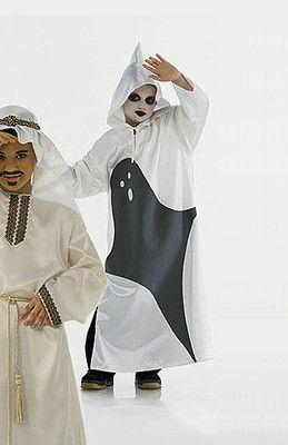 burda style, Schnittmuster für Halloween - Weites, bodenlanges Gewand mit Geister-Motiv aus Filz
