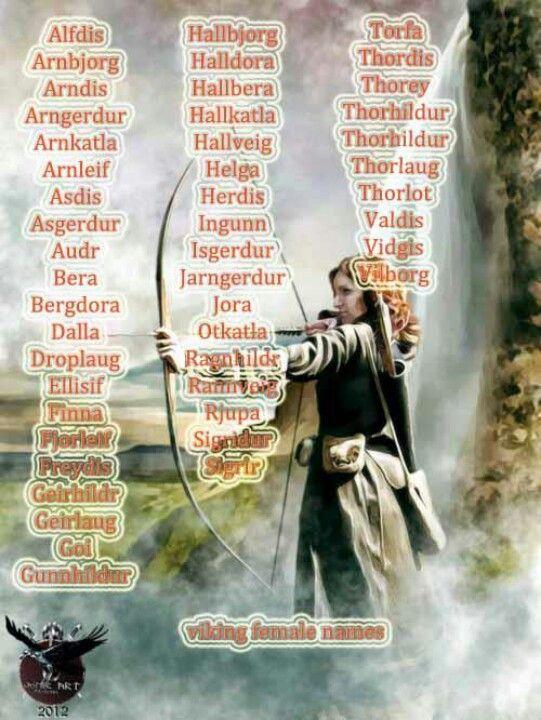 Female names...for what, rocks?! I mean, Thorhildur? Bergdora? Really?