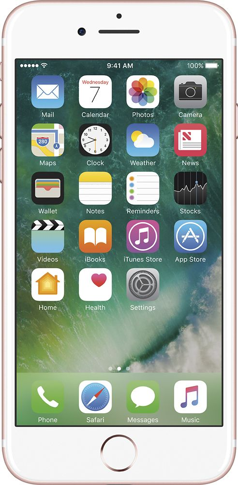 Apple - Geek Squad Refurbished iPhone 7 32GB - Rose Gold (Sprint)
