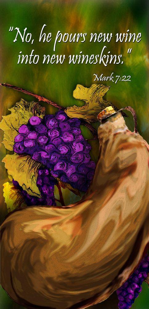 New Wineskins; . . . image # G4415-1 at Bannersandflags4U on ETSY