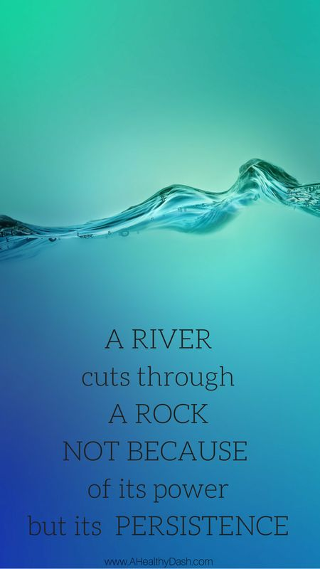 Find awesome Motivational iPhone or android Wallpaper backgrounds on this blog - great for lock screen, nice reminder every time I look at my phone. Fitness motivational quotes, health motivation, healthy lifestyle motivation, quote of the day, typography, inspirational quote, fitness quote. A river cuts through a rock not because of its power but its persistence. Keep going!