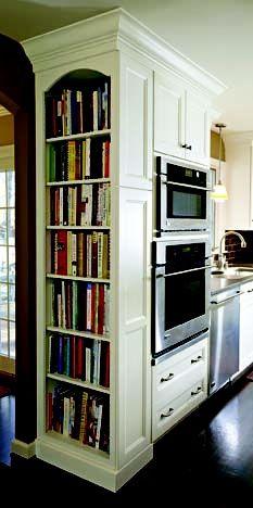 kitchen cookbook shelves