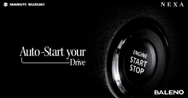 Embark on a convenient journey with the Push-Start button in #Baleno.