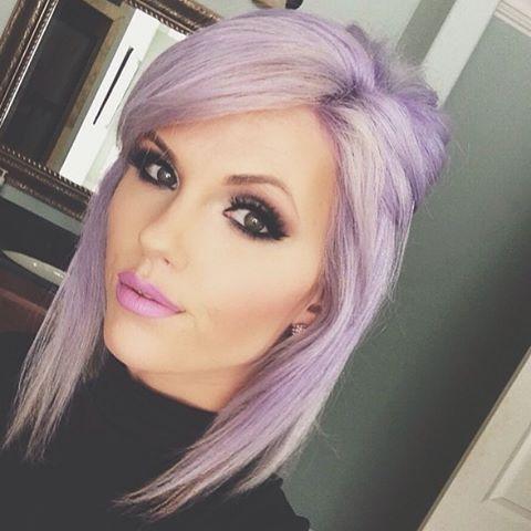 Lilac hair color by @shearenvytupelo hotonbeauty.com fine hair