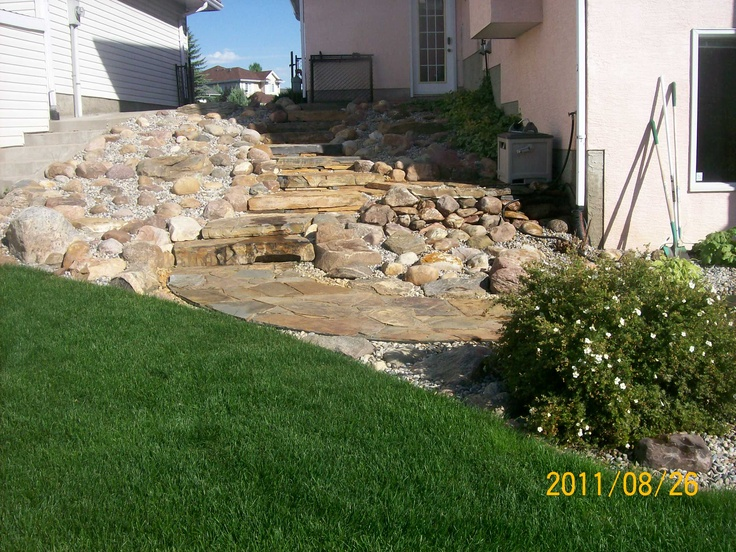 How To Landscape On A Slope With Rock : Best images about hillside landscaping on
