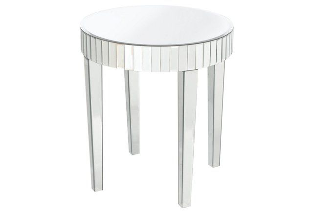 Shannon Mirrored Side Table