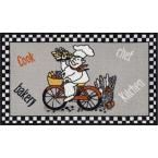 Kings Court Fresh Delivery Grey 3 ft. 3 in. x 4 ft. 7 in. Kitchen Area Rug