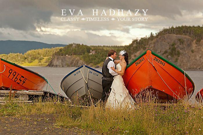 Newfoundland wedding photo.
