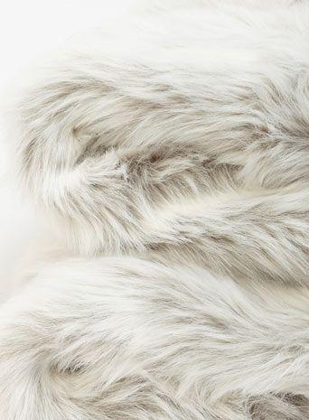 Luxury Faux Fur Throw - Grey Polar
