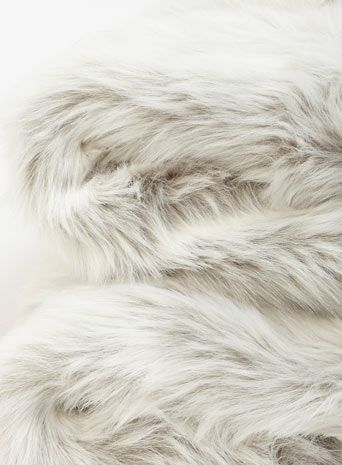 Luxury Faux Fur Throw - Grey Polar
