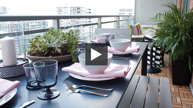 Condo Balcony Makeover | House & Home Produced by Sarah Hartill & Stacey Smithers