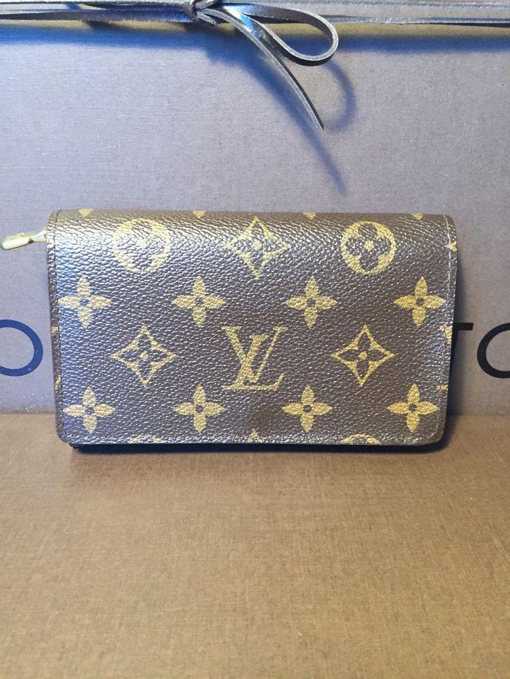 Authentic LV Mono Portefeuille Tresor Monet Bifold Wallet + Dust Bag - The Luxe Boutique