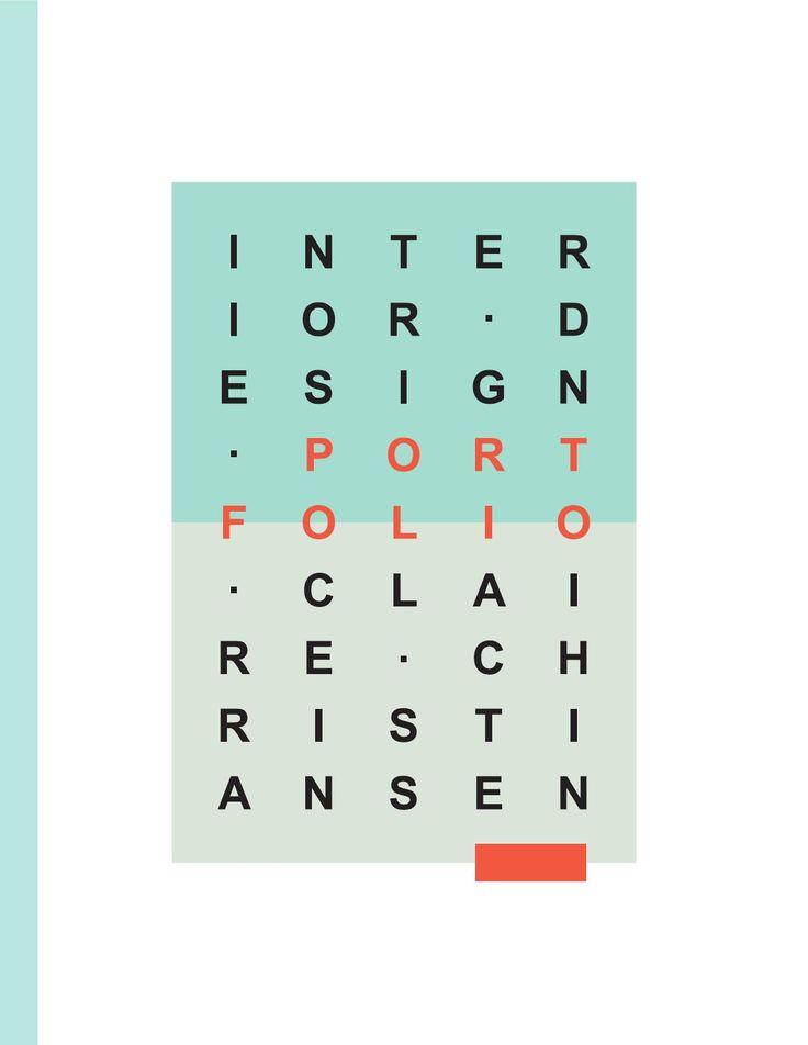 Interior Design Portfolio PortfoliosJob Search